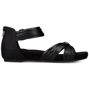 Giani Bernini Shoes - Black Memory Foam Gladiator Sandals
